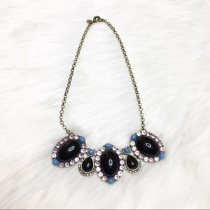 J. Crew Statement Necklace Black